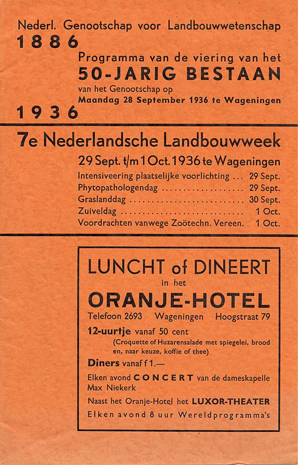 jarig op 28 september Detail van boeken Wageningen jarig op 28 september